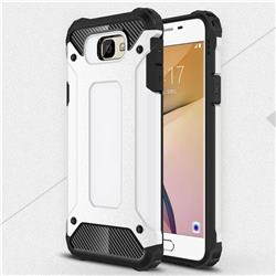 King Kong Armor Premium Shockproof Dual Layer Rugged Hard Cover for Samsung Galaxy J7 Prime G610 - White