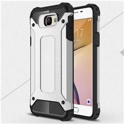 King Kong Armor Premium Shockproof Dual Layer Rugged Hard Cover for Samsung Galaxy J7 Prime G610 - Technology Silver