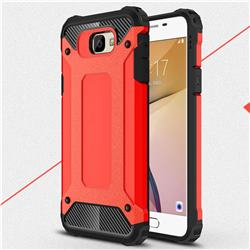King Kong Armor Premium Shockproof Dual Layer Rugged Hard Cover for Samsung Galaxy J7 Prime G610 - Big Red