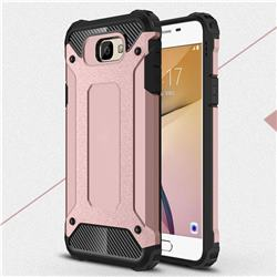 King Kong Armor Premium Shockproof Dual Layer Rugged Hard Cover for Samsung Galaxy J7 Prime G610 - Rose Gold