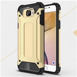King Kong Armor Premium Shockproof Dual Layer Rugged Hard Cover for Samsung Galaxy J7 Prime G610 - Champagne Gold