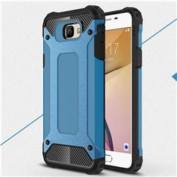 King Kong Armor Premium Shockproof Dual Layer Rugged Hard Cover for Samsung Galaxy J7 Prime G610 - Sky Blue