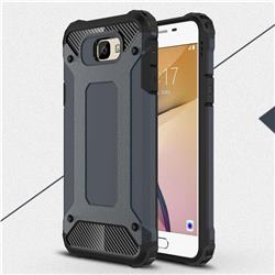 King Kong Armor Premium Shockproof Dual Layer Rugged Hard Cover for Samsung Galaxy J7 Prime G610 - Navy