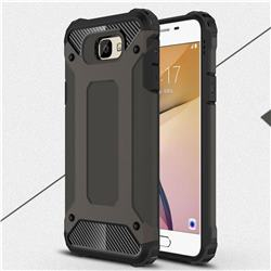 King Kong Armor Premium Shockproof Dual Layer Rugged Hard Cover for Samsung Galaxy J7 Prime G610 - Bronze