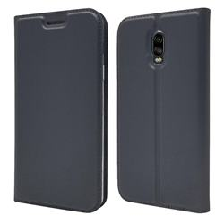 Ultra Slim Card Magnetic Automatic Suction Leather Wallet Case for Samsung Galaxy J7 Prime G610 - Star Grey