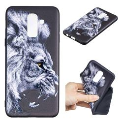 Lion 3D Embossed Relief Black TPU Cell Phone Back Cover for Samsung Galaxy J8