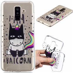 Batman Clear Varnish Soft Phone Back Cover for Samsung Galaxy J8