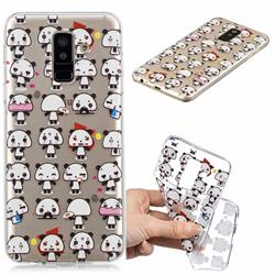 Mini Panda Clear Varnish Soft Phone Back Cover for Samsung Galaxy J8