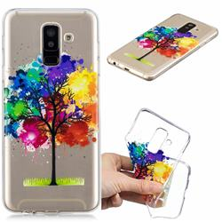 Oil Painting Tree Clear Varnish Soft Phone Back Cover for Samsung Galaxy J8