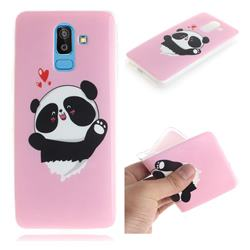 Heart Cat IMD Soft TPU Cell Phone Back Cover for Samsung Galaxy J8