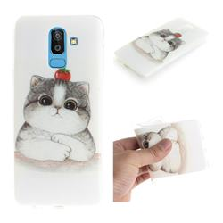 Cute Tomato Cat IMD Soft TPU Cell Phone Back Cover for Samsung Galaxy J8