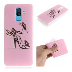 Butterfly High Heels IMD Soft TPU Cell Phone Back Cover for Samsung Galaxy J8