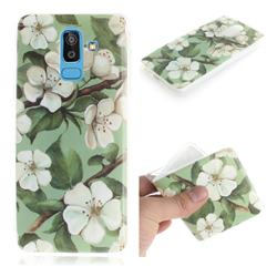 Watercolor Flower IMD Soft TPU Cell Phone Back Cover for Samsung Galaxy J8