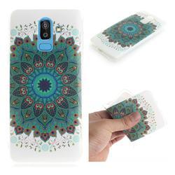 Peacock Mandala IMD Soft TPU Cell Phone Back Cover for Samsung Galaxy J8