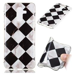 Black and White Matching Soft TPU Marble Pattern Phone Case for Samsung Galaxy J8
