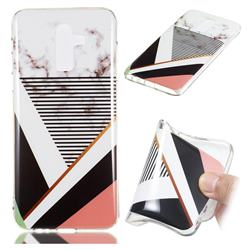 Pinstripe Soft TPU Marble Pattern Phone Case for Samsung Galaxy J8
