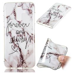 Forever Soft TPU Marble Pattern Phone Case for Samsung Galaxy J8
