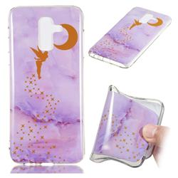Elf Purple Soft TPU Marble Pattern Phone Case for Samsung Galaxy J8