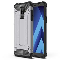 King Kong Armor Premium Shockproof Dual Layer Rugged Hard Cover for Samsung Galaxy J8 - Silver Grey
