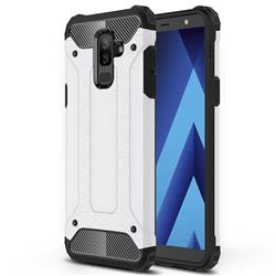 King Kong Armor Premium Shockproof Dual Layer Rugged Hard Cover for Samsung Galaxy J8 - White
