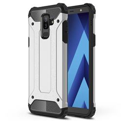 King Kong Armor Premium Shockproof Dual Layer Rugged Hard Cover for Samsung Galaxy J8 - Technology Silver