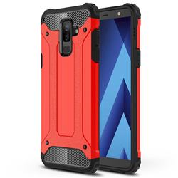 King Kong Armor Premium Shockproof Dual Layer Rugged Hard Cover for Samsung Galaxy J8 - Big Red
