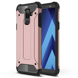 King Kong Armor Premium Shockproof Dual Layer Rugged Hard Cover for Samsung Galaxy J8 - Rose Gold
