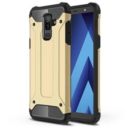 King Kong Armor Premium Shockproof Dual Layer Rugged Hard Cover for Samsung Galaxy J8 - Champagne Gold
