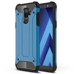 King Kong Armor Premium Shockproof Dual Layer Rugged Hard Cover for Samsung Galaxy J8 - Sky Blue