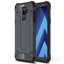 King Kong Armor Premium Shockproof Dual Layer Rugged Hard Cover for Samsung Galaxy J8 - Navy