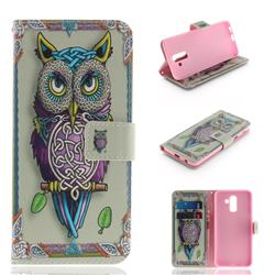 Weave Owl PU Leather Wallet Case for Samsung Galaxy J8