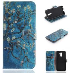 Apricot Tree PU Leather Wallet Case for Samsung Galaxy J8