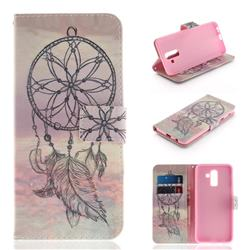 Dream Catcher PU Leather Wallet Case for Samsung Galaxy J8