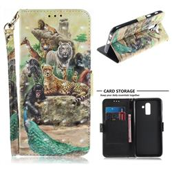 Beast Zoo 3D Painted Leather Wallet Phone Case for Samsung Galaxy J8