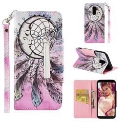 Angel Monternet Big Metal Buckle PU Leather Wallet Phone Case for Samsung Galaxy J8
