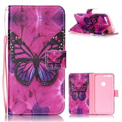Black Butterfly Leather Wallet Phone Case for Google Pixel