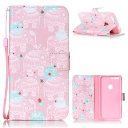Pink Elephant Leather Wallet Phone Case for Google Pixel