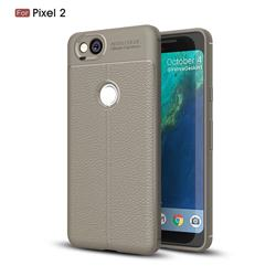 Luxury Auto Focus Litchi Texture Silicone TPU Back Cover for Google Pixel 2 - Gray