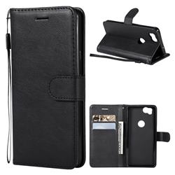 Retro Greek Classic Smooth PU Leather Wallet Phone Case for Google Pixel 2 - Black