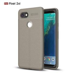 Luxury Auto Focus Litchi Texture Silicone TPU Back Cover for Google Pixel 2 XL - Gray