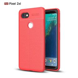 Luxury Auto Focus Litchi Texture Silicone TPU Back Cover for Google Pixel 2 XL - Red
