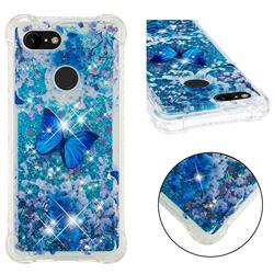 Flower Butterfly Dynamic Liquid Glitter Sand Quicksand Star TPU Case for Google Pixel 3