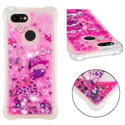 Skateboard Deer Dynamic Liquid Glitter Sand Quicksand Star TPU Case for Google Pixel 3