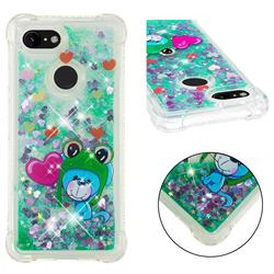 Heart Frog Lion Dynamic Liquid Glitter Sand Quicksand Star TPU Case for Google Pixel 3