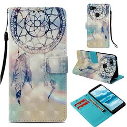 Fantasy Campanula 3D Painted Leather Wallet Case for Google Pixel 3