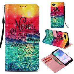 Colorful Dream Catcher 3D Painted Leather Wallet Case for Google Pixel 3