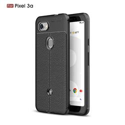 Luxury Auto Focus Litchi Texture Silicone TPU Back Cover for Google Pixel 3A - Black