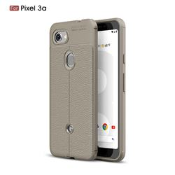 Luxury Auto Focus Litchi Texture Silicone TPU Back Cover for Google Pixel 3A - Gray