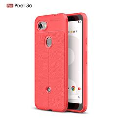 Luxury Auto Focus Litchi Texture Silicone TPU Back Cover for Google Pixel 3A - Red
