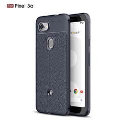 Luxury Auto Focus Litchi Texture Silicone TPU Back Cover for Google Pixel 3A - Dark Blue